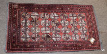 Small red ground rug
