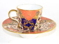 Davenport trembleuse cup and saucer decorated with a japan pattern (saucer a/f)