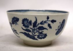 Worcester porcelain slop bowl with a three flowers print