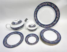 Quantity of tea wares by Spode in the Ribbons & Roses pattern comprising tea pot, sugar bowl and