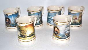 Group of Nelson commemorative jugs by Wedgwood, commemorating Nelson's battles; Copenhagen,