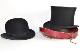 """Dunn & Co bowler hat and a further """"Extra Quality"""" top hat (2)"""
