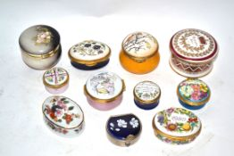 Group of pill boxes by Halcyon Days