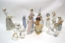 Group of Lladro figures