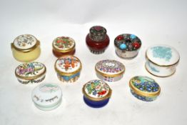 Group of pill boxes, mainly by Halcyon Days