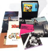 Box of LP Vinyl to include Eric Clapton, The Moody Blues etc.