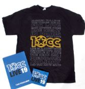 Signed 10CC Live 19 CD together with tour programme.
