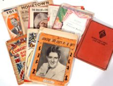 Selection of sheet music and programmes