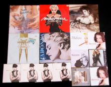 """Small collection of Madonna vinyl albums to include 'True Blue', 'You Can Dance' etc plus 10 7"""""""