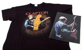 Eric Clapton 2019 concert T-shirt and tour programme.
