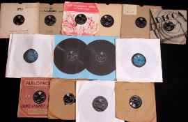 """Small collection of Elvis Presley including twelve 10"""" 78 RPM shellac singles in various conditions"""