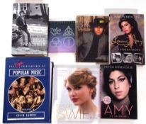 Collection of 7 books to include Bruce Springsteen's 'Born to Run', Loving Amy, Taylor Swift: From