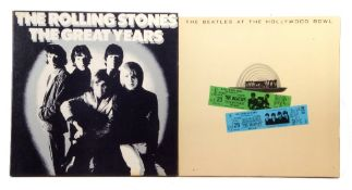 The Rolling Stones 'The Great Years' vinyl box set and 'The Beatles at the Hollywood Bowl'.