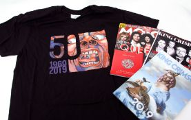King Crimson 'In the Court of the Crimson King' 2019 concert T-shirt and tour programme.