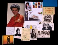 Collection of autograph books and related items, mainly film and TV, including Andre Previn, Billy