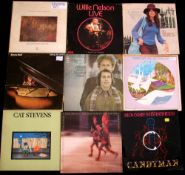 Box of 40+ albums to include Dave Mason, Bob Dylan, Cat Stevens and Roberta Flack.