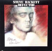 Defector' LP Vinyl signed by Steve Hackett.