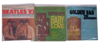 Group of three Korean LP's Vinyl to include Beatles VI and The Supremes 'Baby Love'