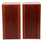 Pair of large wooden cased Tandberg speakers.