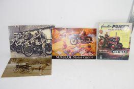 BOX CARDBOARD ADVERTISING MATERIAL FOR SUNBEAM MOTORCYCLES