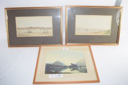 GROUP OF THREE PRINTS IN WOODEN FRAMES