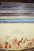 BOX OF LP'S MAINLY POP STATUS QUO, DIA STRAITS ETC