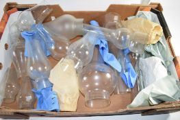 BOX GLASS CHIMNEYS FPR OIL LAMPS
