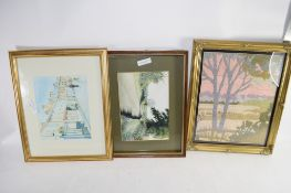 QTY OF VARIOUS PICTURES IN GILT FRAMES