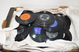 BOX QTY OF RECORDS MAINLY 45'S