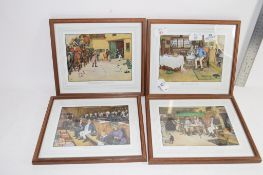 GROUP OF FOUR PRINTS IN MAHOGANY FRAMES ONE OF TOM SMART AND SAM WELLAR MEETS HIS LONG LOST PARENTS
