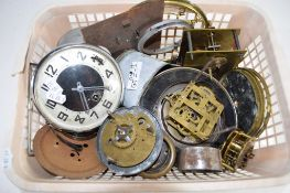 QTY OF WATCH PARTS AND A ALARM CLOCK