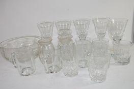 BOX QTY OF GLASS WARES, MUGS, WINE GLASSES ETC