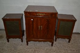 WORCESTER PHF8 VINTAGE HIFI SYSTEM IN REGENCY STYLE CABINET INCLUDING A SELECTION OF RECORDS AND