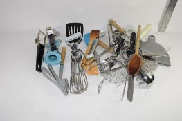 BOX CONTAINING QTY OF KITCHEN IMPLEMENTS