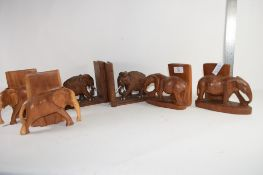 QTY OF BOOKENDS MODELED AS ELEPHANTS (3 PAIRS)