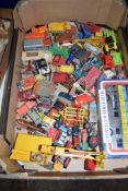 BOX CONTAINING METAL TOYS, SOME MATCHBOX AND DINKY