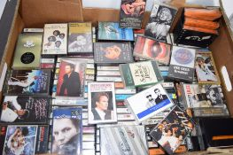 BOX CONTAINING CASSETTE TAPES, MAINLY POPULAR MUSIC