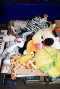 BOX CONTAINING SOFT TOYS