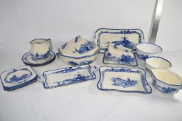 BOX CONTAINING ROYAL DOULTON NORFOLK WARES INCLUDING TUREEN AND COVER, SIDE PLATES, SERVING