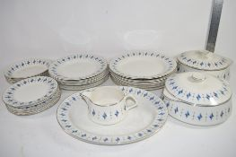 PART DINNER SERVICE BY LORD NELSON POTTERY COMPRISING TWO TUREENS AND COVERS, QUANTITY OF DINNER