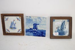 BLUE AND WHITE DUTCH TILES