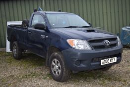 Toyota Hilux 4wd Pickup, 2008, fitted with homemade loading crane - LOW MILEAGE ONLY 73K SHOWING