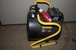 Electric fan workshop heater