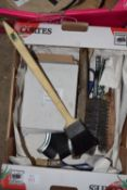 Box of wire brushes and others