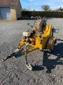 Cable drum puller w/hydraulic power pack