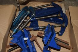G-clamps and bench vices