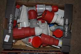Box of 3-phase plugs and sockets