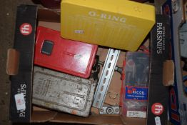 Mixed box including O-ring set, drill bits, and allen keys