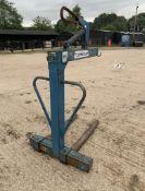 Hiab crane pallet forks