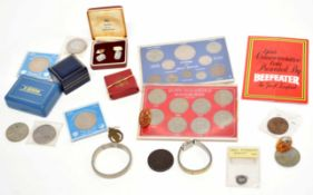 Box of various English 20th century coins, to include 1854 Victorian groat